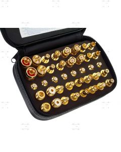 Adaptor kit 40 pieces, gold-plated, with bag